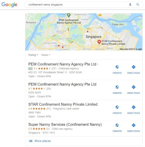 Local Search Results For Confinement Nanny Singapore