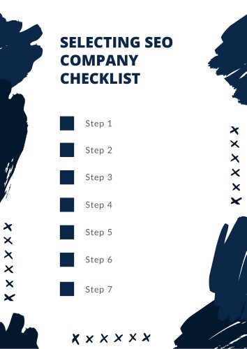 Selecting SEO Company Checklist Template